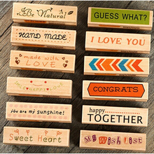 NEW vintage Handmade Greeting long wooden stamp /Multi-purpose/funny DIY work/Labels, Indexes & Stamps(China (Mainland))
