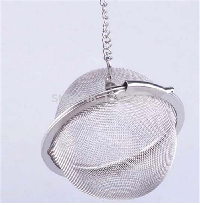 200pcs/lot Stainless Steel Tea Ball Durable Sphere Locking Mesh Tea Strainer Spice Ball(China (Mainland))