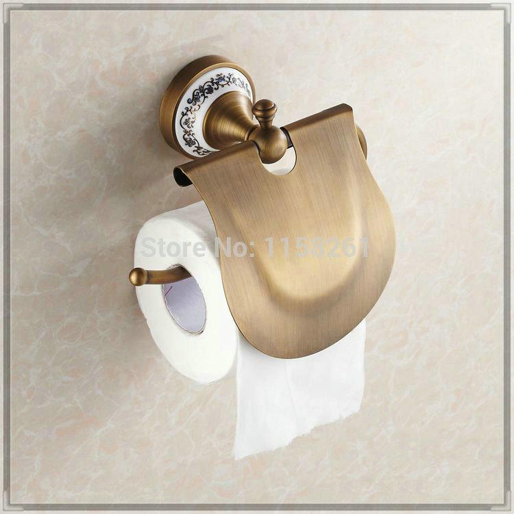 antique bronze finishing paper holder roll holder tissue holder brass