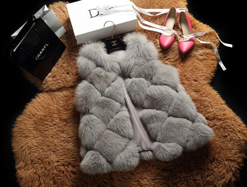 2015 New Design Fashion Winter Women Fur Vest Faux Fox Fur Coat Woman Fur Vests Jacket Female Ladies Overcoat Size S-XXXLОдежда и ак�е��уары<br><br><br>Aliexpress