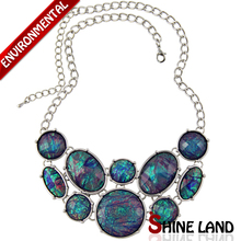 2016 Spring New Fashion Women Popular Colorful Lucite Geometrical Shape Chunky Choker Statement Necklace Jewelry(China (Mainland))