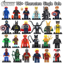 Single Sale DC Marvel SuperHero Minifigures Building Blocks Toys Batman Captain America,Wolverine,Iron Man,Deadpool(China (Mainland))