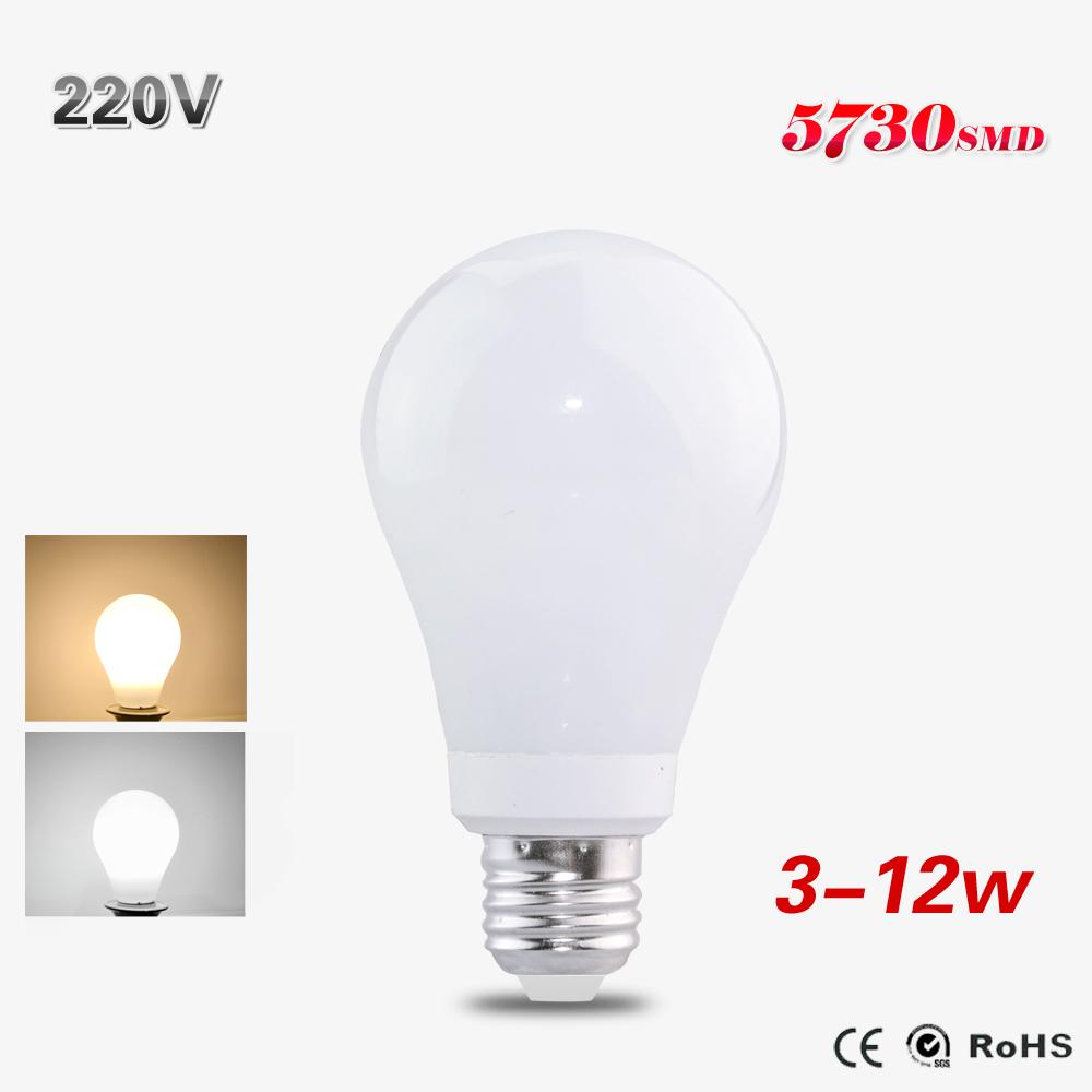 1Pcs E27 HQ Glass Led Bulb Lamp High Power 3W 5W 7W 10W 12W Lampada Led 220V 230V Spotlight For Christmas Home Holiday Lighting()