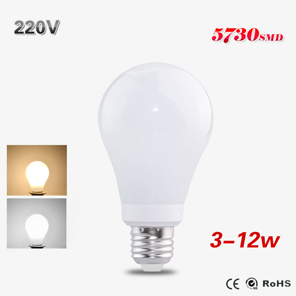 1Pcs E27 HQ Glass Led Bulb Lamp High Power 3W 5W 7W 10W 12W Lampada Led 220V 230V Spotlight For Christmas Home Holiday Lighting()