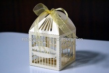 """China Wholesale Hot New Products For 2014 Wedding Favor! """"Bird Cage"""" Wedding Invitation Box With Free Ribbon From Mery Crafts(China (Mainland))"""