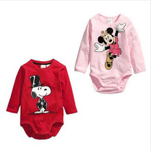 Newborn Romper Baby Girls Boys Romper Carter Baby Romper Mickey Baby Clothing Body Suits Cartoon Long Sleeve Clothes