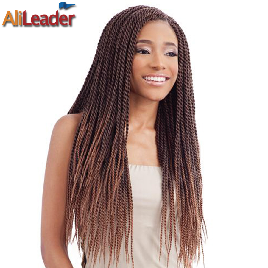 Crochet Box Braids Packs : Box Braids Crochet Braids Senelese Twist Hair Extensions 12Roots/Pack ...
