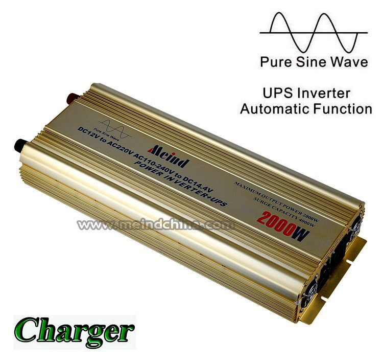 High Quality AC Converter PSW Pure Sine Wave DC 12V to AC 220V Sufficient 2000W Peak 4000W Power Inverter with Charger UPS(China (Mainland))