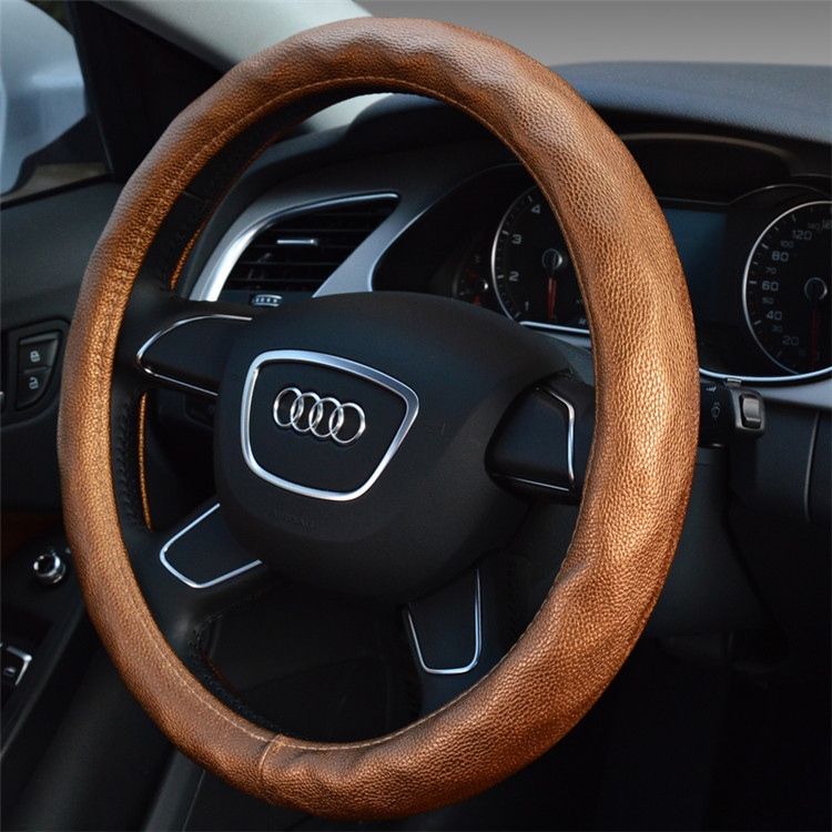 The new diamond leather sheepskin steering wheel cover to cover high-end boutique Tyrant gold steering wheel(China (Mainland))