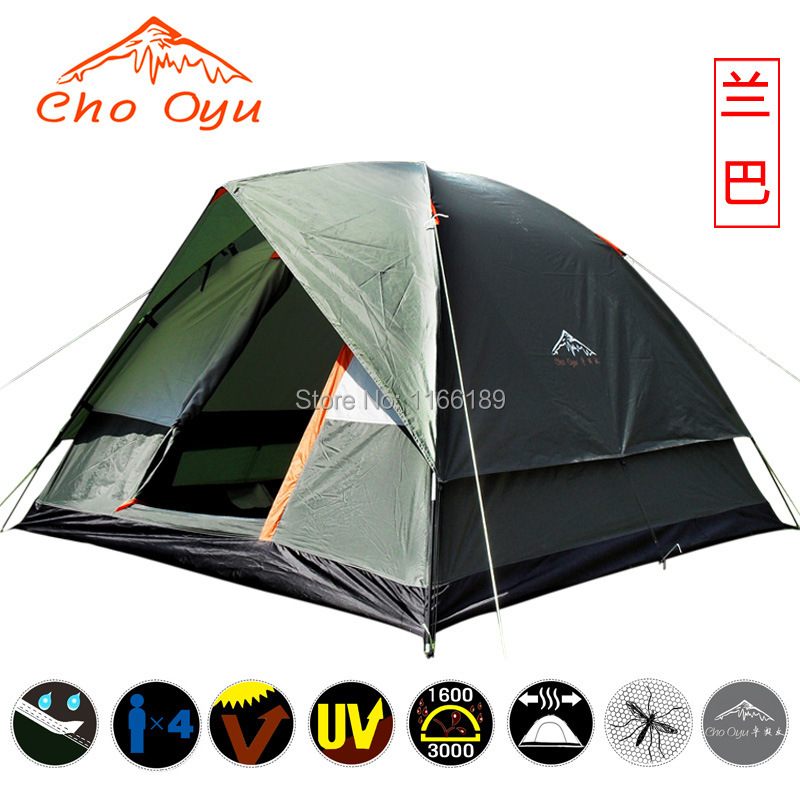 200*200*130cm 4 people family Outdoor camping tent double layer waterproof for hiking backpacking sightseeing travelling<br><br>Aliexpress