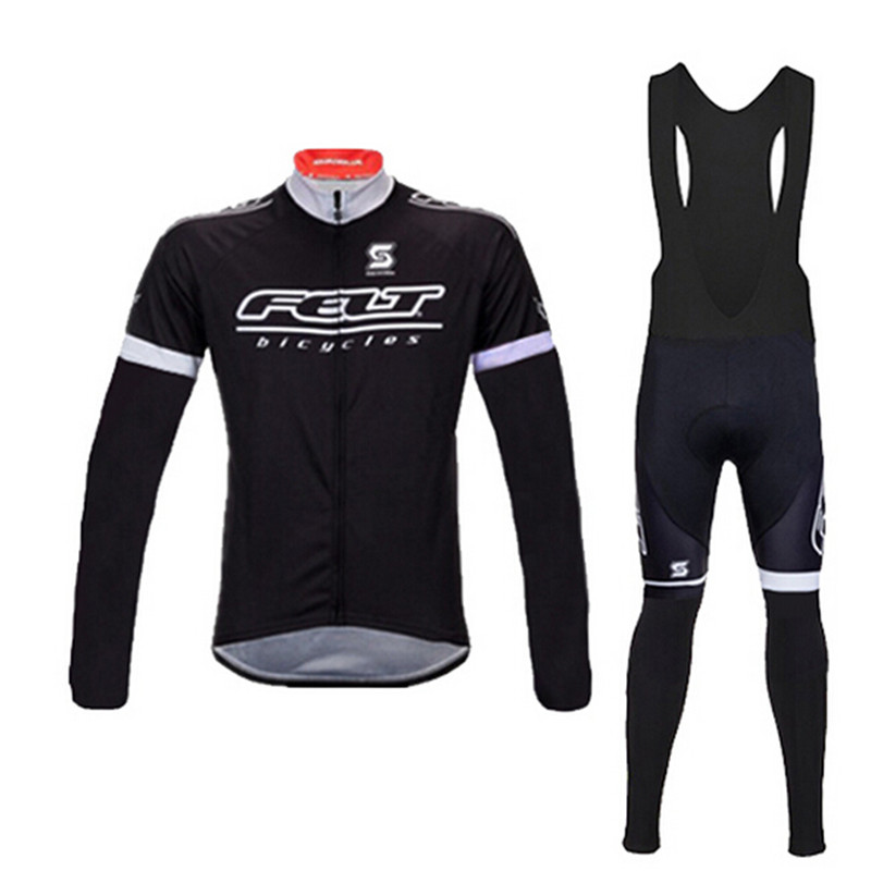 FELT Black cycling jersey long sleeves clothing bicicleta bike ciclismo jersey set maillot ciclismo pring autumn style bicicleta<br><br>Aliexpress