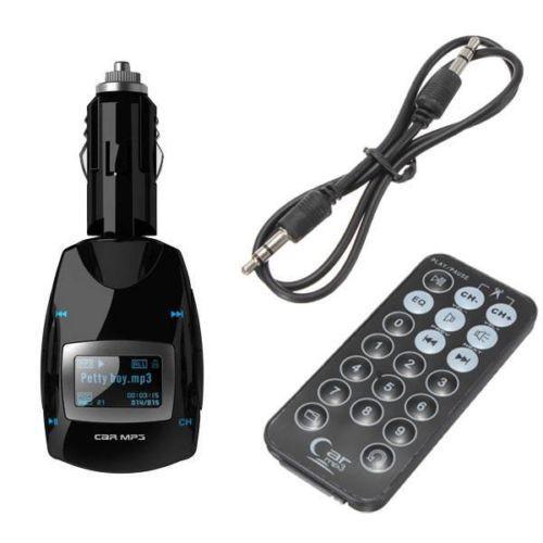 Blue LCD Car kit FM Transmitter MP3 Music Player Radio Stereo Auto Voiture Sans Fil USB SD MMC U-disk +Remote(China (Mainland))