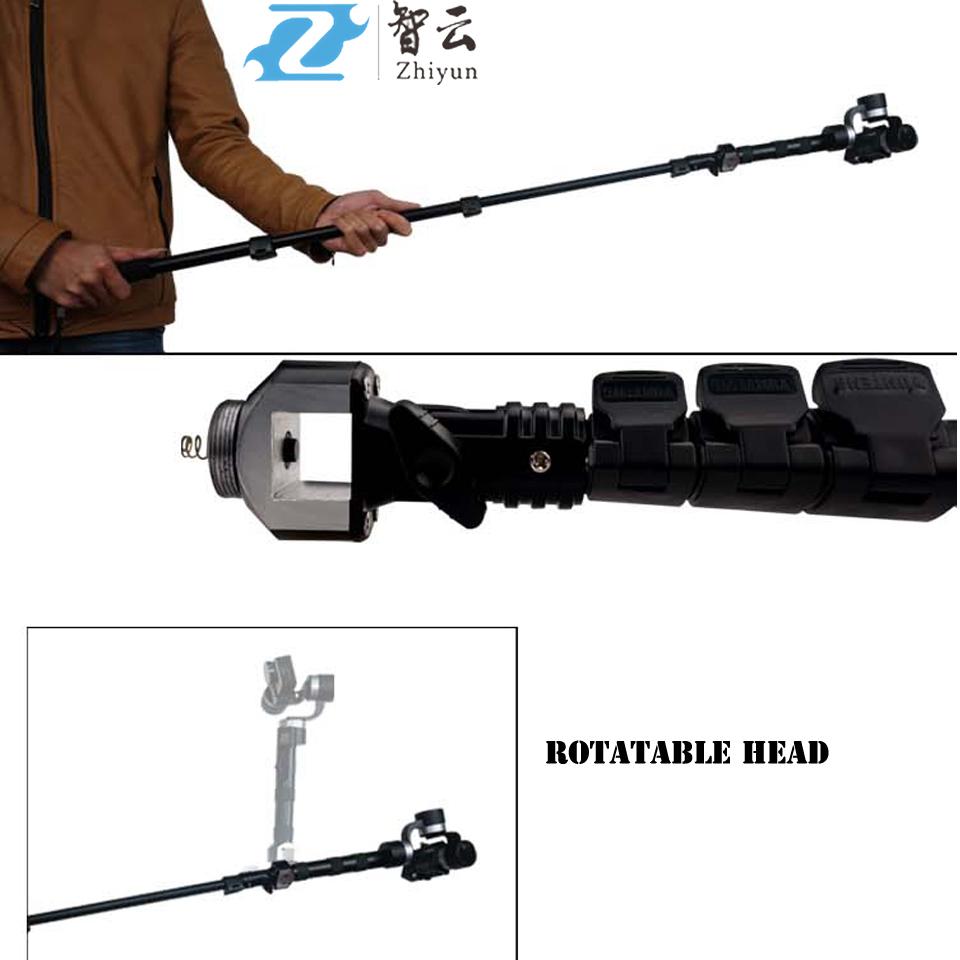 ZHIYUN Retractable Extension Monopod Rod for ZHIYUN 3-Axis Handheld Steady Gimbal vs Feiyu XJJJ Handle Gimbal Free Shipping<br><br>Aliexpress