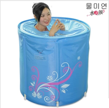 Plus cotton thick water beauty folding tub inflatable bathtub 65 adult bath bucket(China (Mainland))