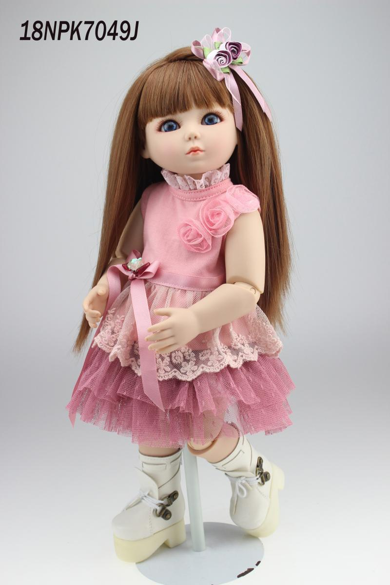 18inch 1/4 BJD/SD girl bjd  jointed doll cute girl dress up toys high quality   boneca brinquedos lovers gift