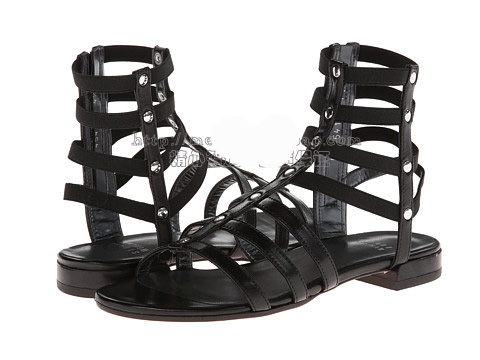 Фотография 2015 New Casual Brand Genuine Leather High Quality,Fashion Mid-Calf Gladiator Sandals Cut-Outs Rome Flat Boots,Gold,Black,Red