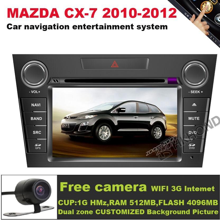 A8 S100 Car DVD Player 3G Wifi 20VCDC GPS RDS Radio Navi New MAZDA CX7 CX-7 2009-2011 free map + - HKHONDA Technology Electronic LTD store