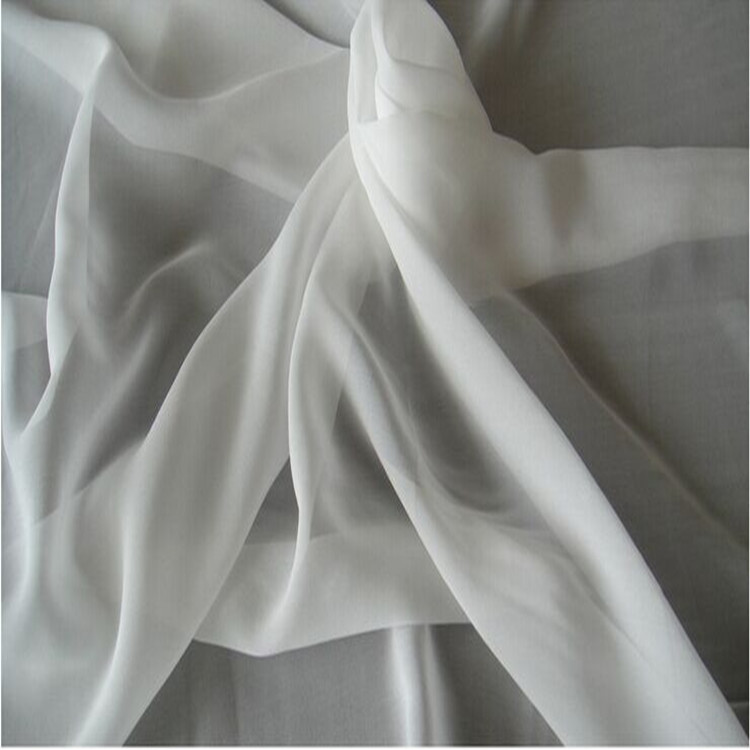 10 mm 140 cm Silk Georgette Fabric 100% pure mulberry silk fabric 55'' width white 43 grams 10 meters small wholesale SG6