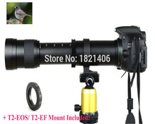 Buy New 420-800mm F/8.3-16 Super Telephoto Lens Manual Zoom TELE + T2 Mount Adapter Canon 1100D 650D 600D Nikon D600 D7200 D5500 for $97.29 in AliExpress store