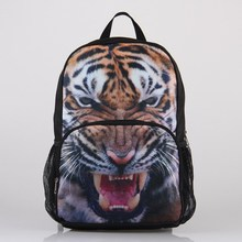 VEEVAN Personalized 3D Animal Print Polyester Fashion Casual Backpacks Tiger Pattern High School Backpack(China (Mainland))