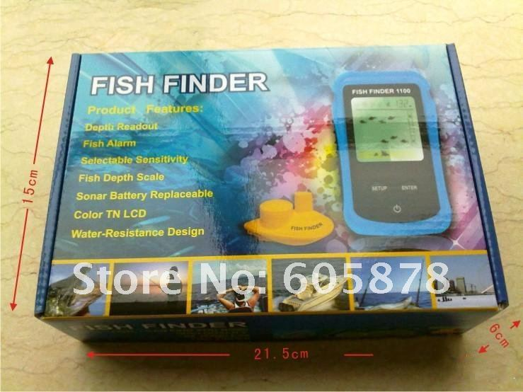 Best Portable Sonar Fishfinder Alarm Fish Finder Wireless LCD display screen Free Shipping(China (Mainland))