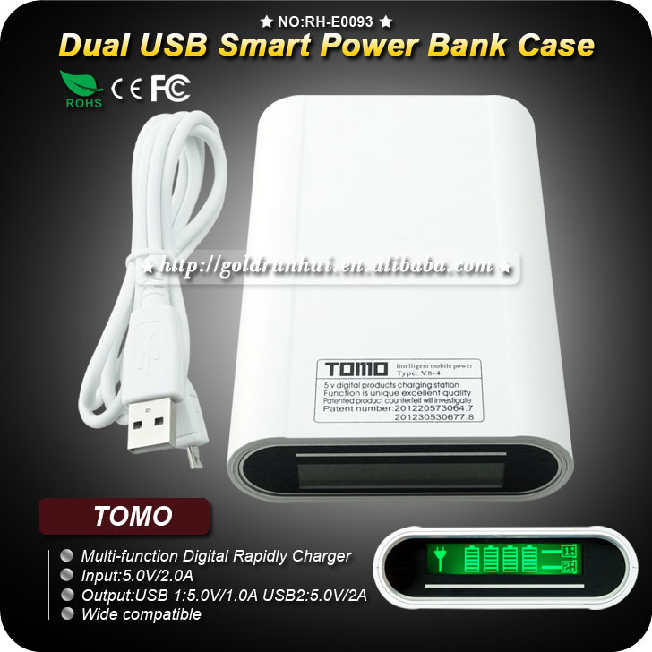 TOMO 18650 Charger Lithium Battery with Anti-overcharge Smart Fast Charger Indicate Power Function with LCD display(China (Mainland))
