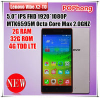 Original Lenovo Vibe X2 4G LTE Cell Phone MTK6595 Octa Core 5 '' 1920*1080 Android 13MP 2G RAM 32G ROM