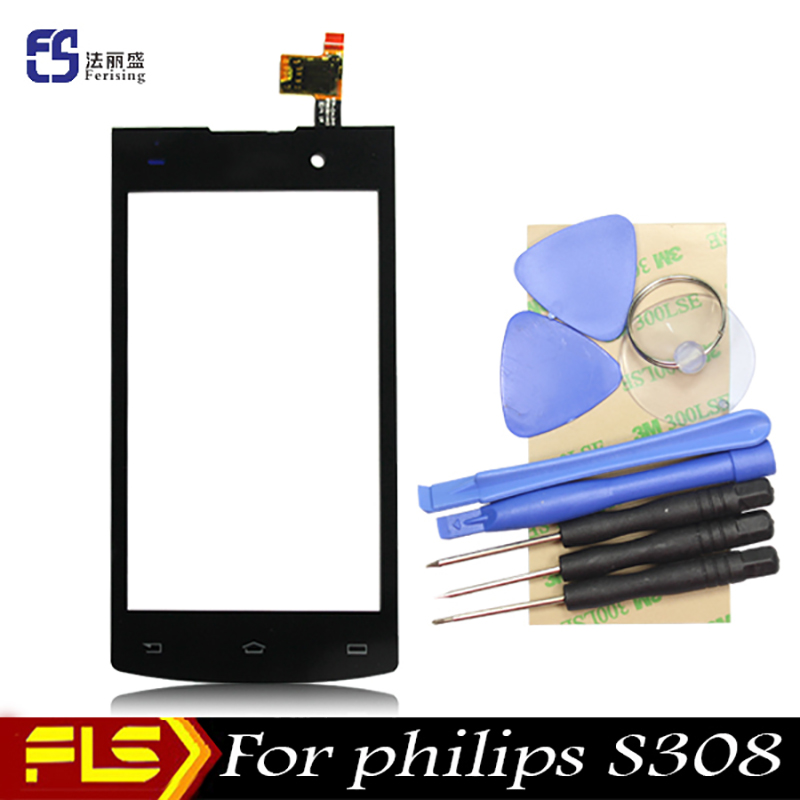 2016 New High quality Original Touch Screen For Philips S301 S308 Sensor Lens Digitizer Replacement Parts + tools kit