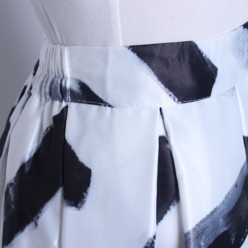 HTB1X0aQQFXXXXbKXXXXq6xXFXXXc - GOKIC 2017 Summer Women Vintage Retro Satin Floral Pleated Skirts Audrey Hepburn Style High Waist A-Line tutu Midi Skirt