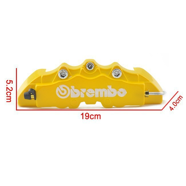 NEW Brembo Style Universal 2Pcs Set Disc Brake Caliper Covers 4 color Replacement Parts Fit for