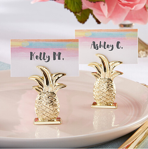 Direct selling wedding Golden pineapple clips seating name place table cards holders party decorations gifts A2(China (Mainland))