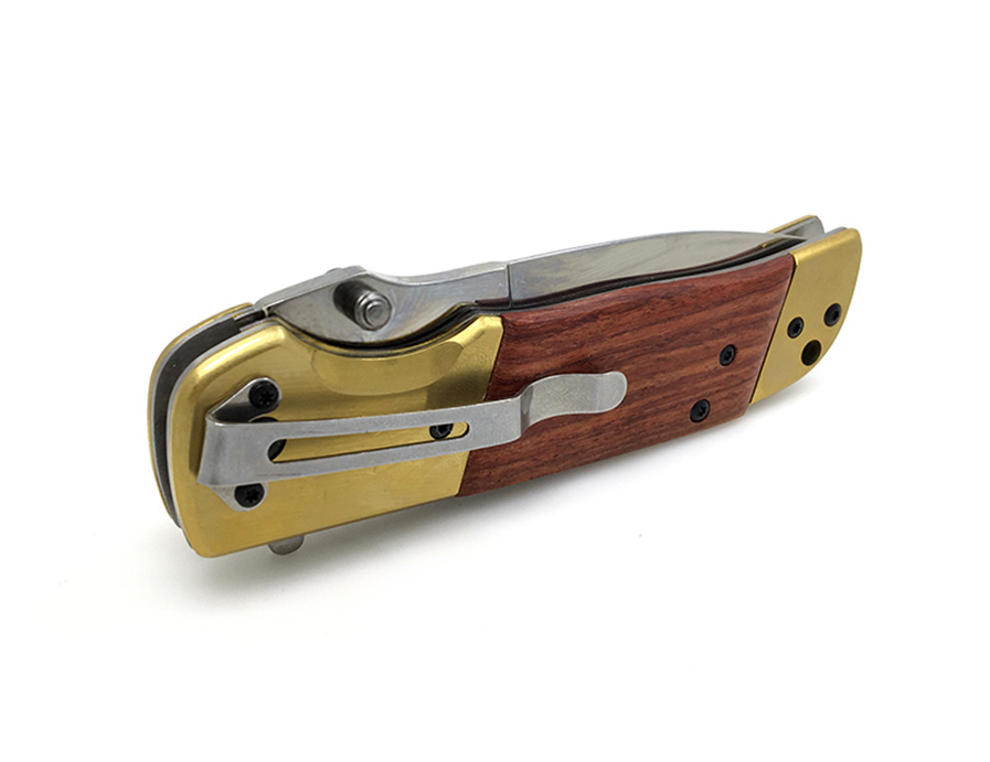 Buy Brand DA69 Folding Knife Tactical Hunting Outdoor Camping Pocket EDC Knives 5Cr13 Blade Wood+Steel Handle Survival Utility Tools cheap