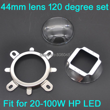 Buy 1Set 44mm Glass LED Lens 120 Degree Beam Angle + 50mm Reflector Collimator + Fixed Bracket 20W 30W 50W 100W High Power LED for $2.85 in AliExpress store