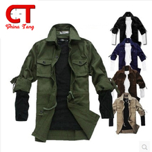 chemise homme Spring military style long sleeve vetement homme tactical clothing slim men's shirt Army Green khaki new outdoor(China (Mainland))