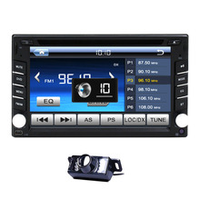 Free Camera Inlcuded !2 Din HD 6.2″ Multi-Touch Screen Car Stereo DVD Player BT Radio Bluetooth + Backup Camera In Dash Headunit
