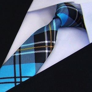 Print Slim Tie plaid Men's skinny ties Polyester pattern fashion neckties 5CM WIDTH - No.01 Store store