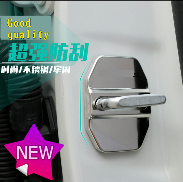 Car Door Lock Decoration Stainless Steel Cover case for Fiat Freemont Bravo accessories styling(China (Mainland))