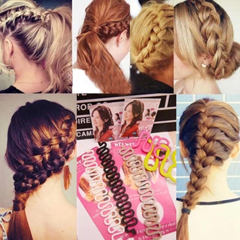 New Women Fashion Hair Styling Clip Stick Bun Maker Braid Tool Hair Accessories(China (Mainland))