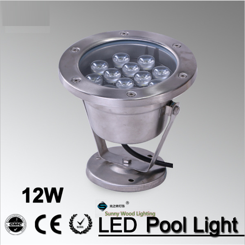 Free shipping 3 years warranty IP68 LED fountain light 12W pool light underwater light, waterproof piscina light 12W 12V AC Red<br><br>Aliexpress