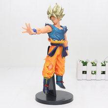 25 centímetros Anime Dragon Ball Z goku figura Sangue de Saiyans Dragonball Son Goku PVC Action Figure Toy Modelo(China)