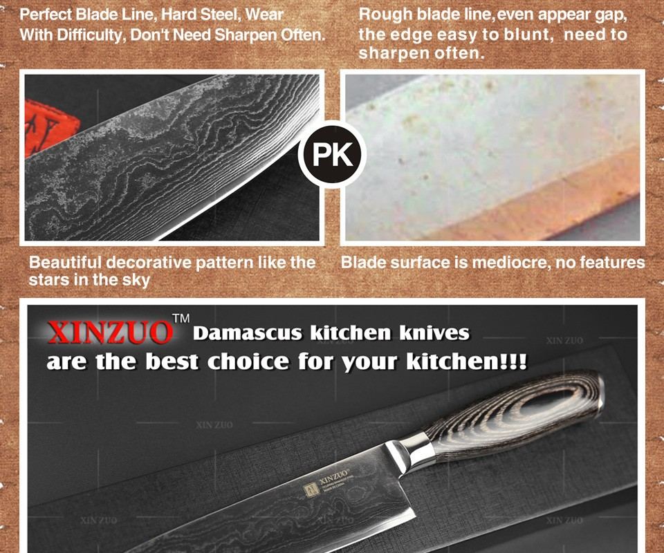 "Buy 8"" inches chef knife High quality 73 layers Japanese VG10 Damascus steel kitchen chef knife sharp hard wood handle free shipping cheap"