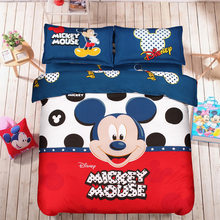Home Textiles, Bedding Set,Reactive Printing Mickey and Minnie Duvet Cover Set,Lovely Cartoon Bedding Set Kids(China (Mainland))