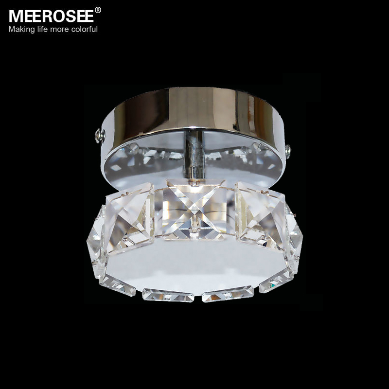 Modern 3W LED Crystal Chandelier Light Fixture Lustres Round Shape LED Chandeliers Aisle Corridor Lamp Price for 1 PC Only(China (Mainland))