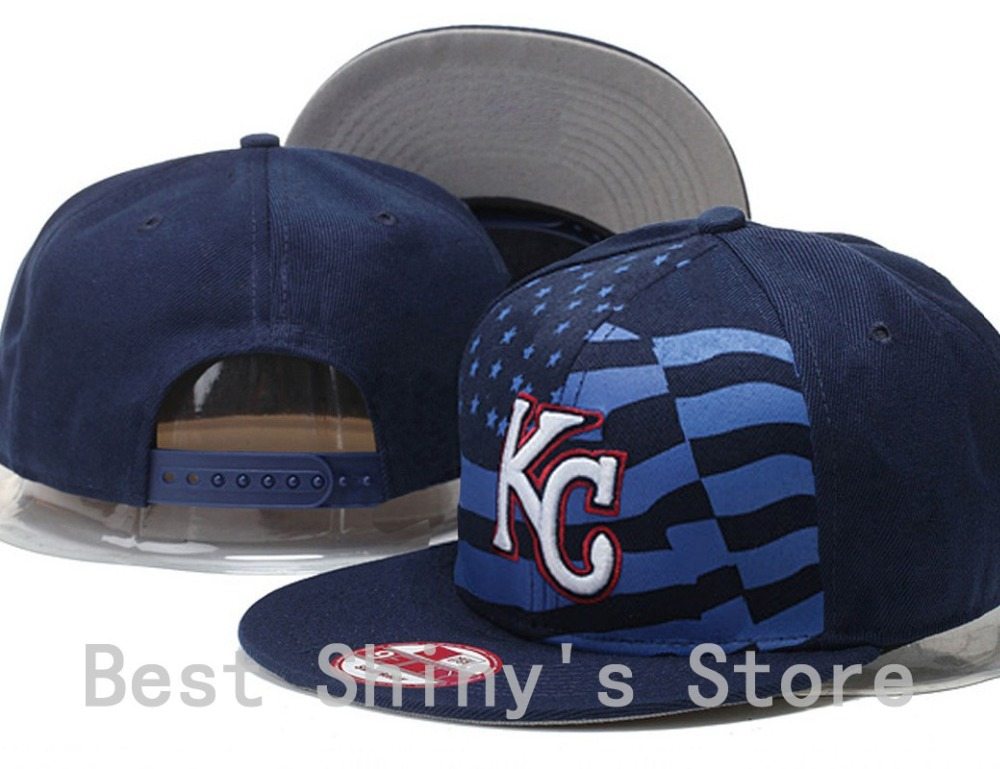 2015 Men's Kansas City Royals Snapback Hat In Navy With Special Print Letter KC Embroidery Logo Baseball Sports Team Cap(China (Mainland))