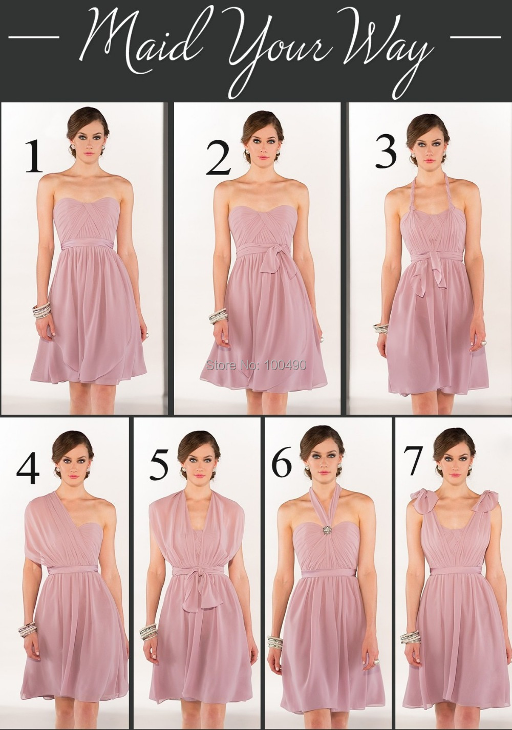 Dusty Rose Pink Bridesmaid Dresses