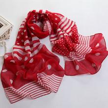 Мода стиль женщины шарф 50 x 170 см длинный шарф красный шарфы белый полосатый écharpe Mujer