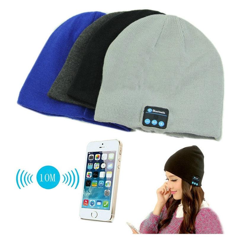 2015 New Arrival Bluetooth Headphone Hat Bluetooth Earphone Hat Winter Beanie Hat Wireless Smart Cap Headphone With Speaker Mic(China (Mainland))