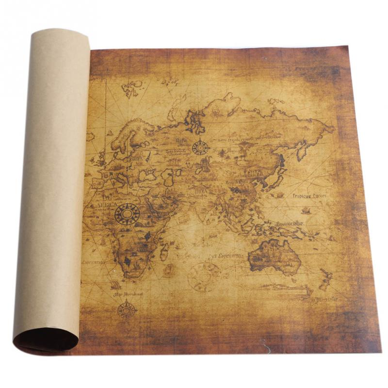 70cmX50cm Large Vintage Style Retro Kraft Paper Poster Gifts Home Decoration Globe the Old World Map(China (Mainland))