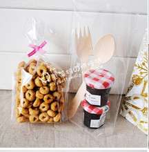 100 pcs/lot Clear Cellophane Bag / Christmas Cookies Bag / Bakery Gifts Packing 12*19CM+4 free shipping(China (Mainland))