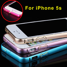 Anti Knock Aluminium Metal Bumper Frame Ultra Thin Slim Case Cover for iPhone SE 5 5S 2016 Newest(China (Mainland))